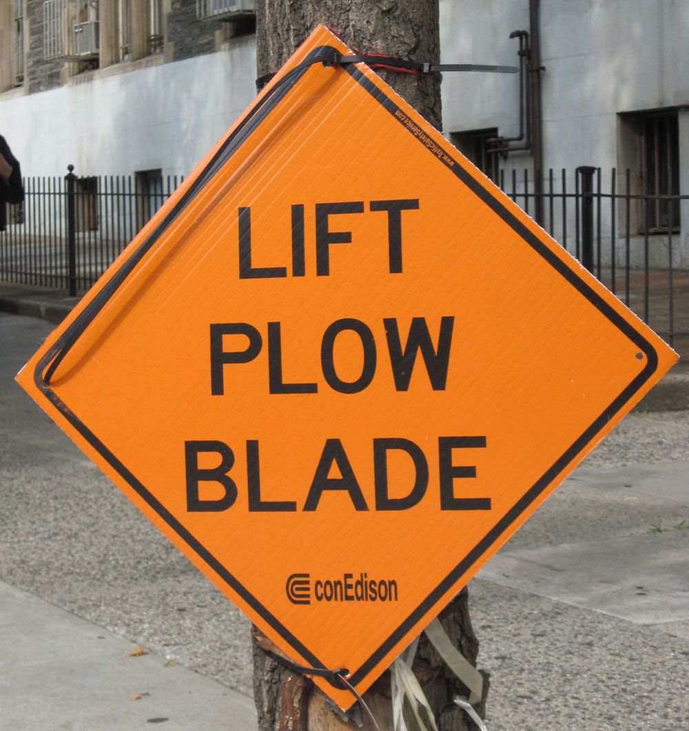 original lift plow blade sign