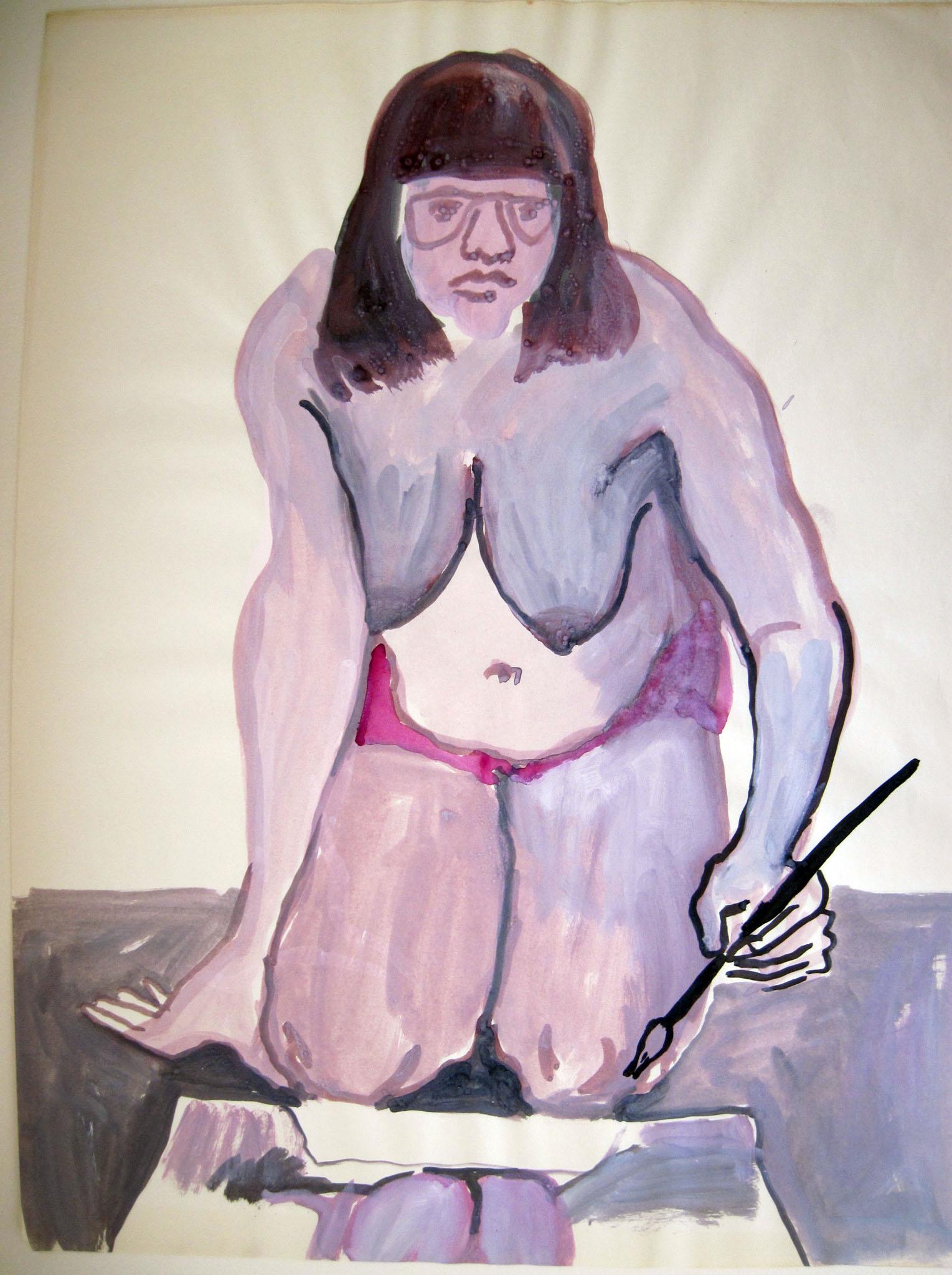 kneeling-self -portrait