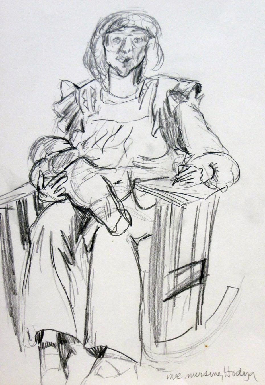 nursing and drawing