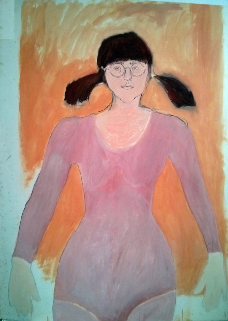 self portrait in leotard